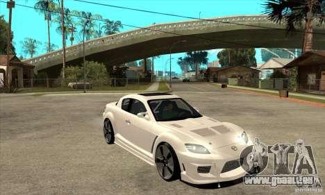 Mazda RX-8 v2 pour GTA San Andreas vue arrière