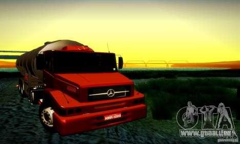 Mercedes-Benz L1620 Tanque für GTA San Andreas Rückansicht