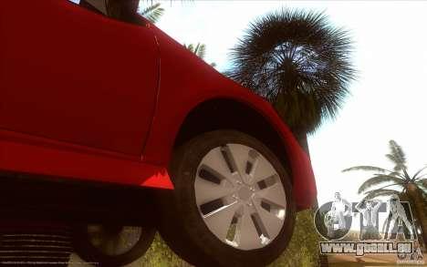 Kia Rio für GTA San Andreas Rückansicht