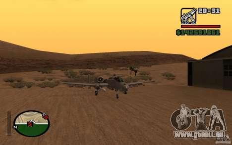 Thunderbold A-10 für GTA San Andreas linke Ansicht