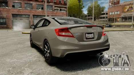 Honda Civic Si Coupe 2012 pour GTA 4 Vue arrière de la gauche
