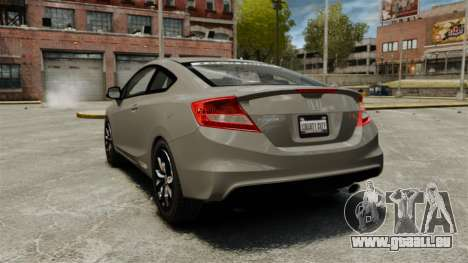 Honda Civic Si Coupe 2012 für GTA 4 hinten links Ansicht