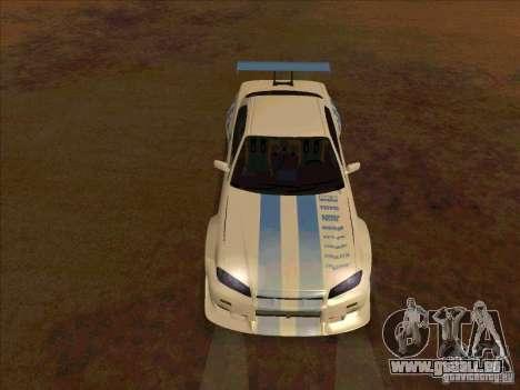 Nissan Skyline GT-R R34 2 Fast 2 Furious für GTA San Andreas Rückansicht