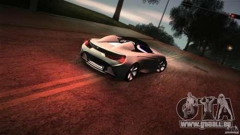 BMW Vision Connected Drive Concept pour GTA San Andreas vue de dessous