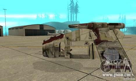 République Gunship de Star Wars pour GTA San Andreas laissé vue
