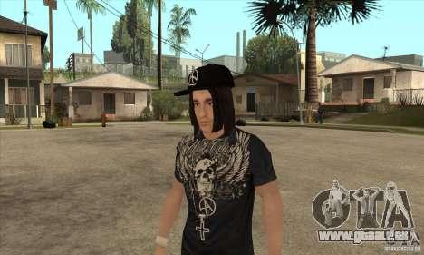 Criss Angel Skin für GTA San Andreas zweiten Screenshot