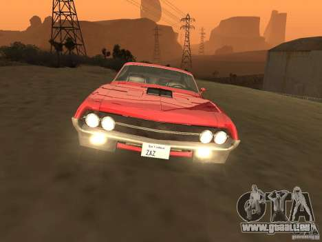 Ford Torino Cobra 1970 Tunable pour GTA San Andreas vue intérieure