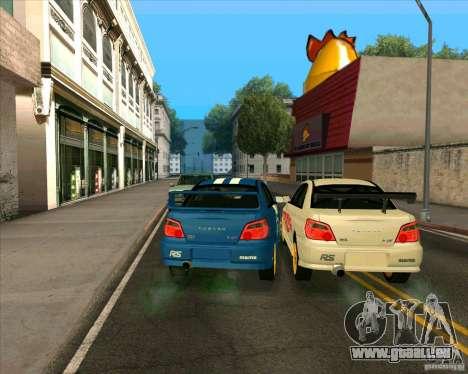 Subaru Impreza WRX STi Tunable für GTA San Andreas zurück linke Ansicht