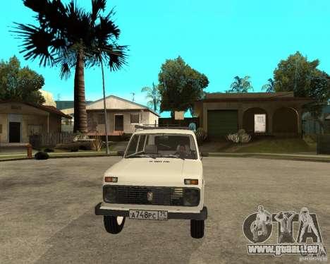 WAZ 2131 Niva für GTA San Andreas Rückansicht
