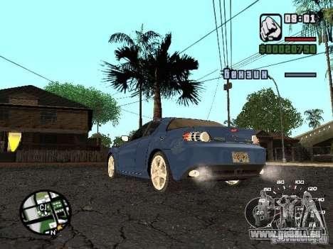 Mazda RX 8 pour GTA San Andreas laissé vue