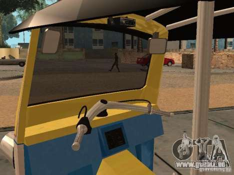 Tuk Tuk Thailand pour GTA San Andreas vue arrière