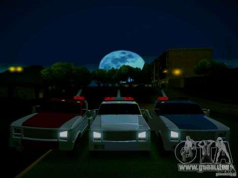 Towtruck tuned für GTA San Andreas Rückansicht