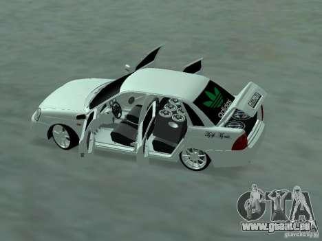 Lada Priora Adidas pour GTA San Andreas sur la vue arrière gauche