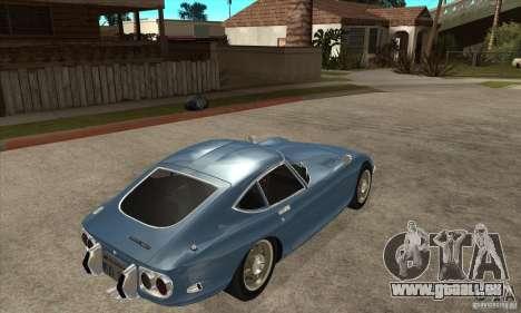 Toyota 2000GT pour GTA San Andreas vue de droite