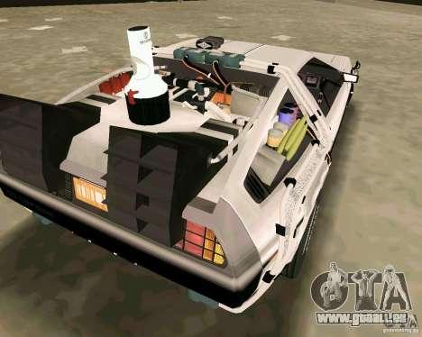 BTTF DeLorean DMC 12 pour une vue GTA Vice City de l'intérieur