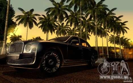 Bentley Mulsanne 2010 v1.0 pour GTA San Andreas vue de dessous