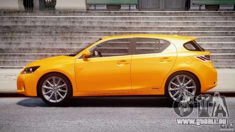 Lexus CT200h 2011 für GTA 4 linke Ansicht