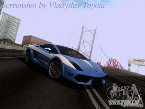 Lamborghini Gallardo LP560-4 Polizia für GTA San Andreas
