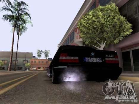 BMW E34 540i pour GTA San Andreas laissé vue