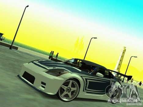 Nissan 350z Tea Hair pour GTA San Andreas vue de droite