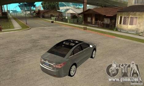 Hyundai Sonata 2011 für GTA San Andreas rechten Ansicht