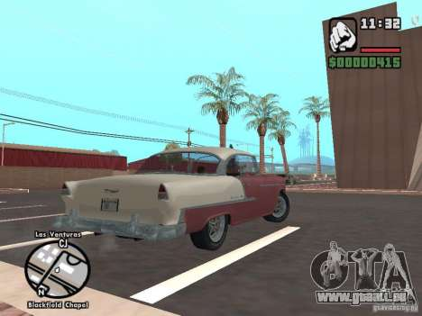 1955 Chevy Belair Sports Coupe für GTA San Andreas linke Ansicht