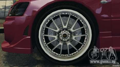Mitsubishi Lancer Evolution 8 für GTA 4 Innenansicht