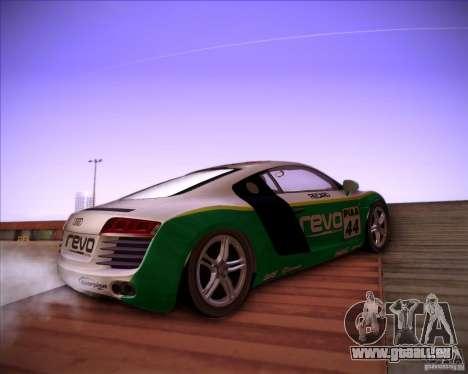 Audi R8 Shift pour GTA San Andreas vue de droite