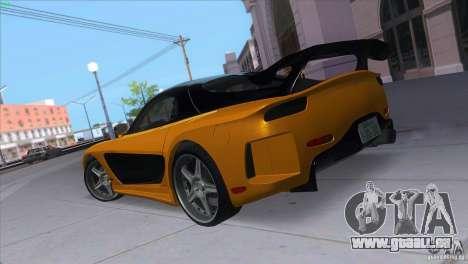 Mazda RX7 Veilside pour GTA San Andreas sur la vue arrière gauche