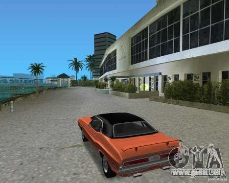 1970 Dodge Challenger R/T Hemi pour une vue GTA Vice City de la droite