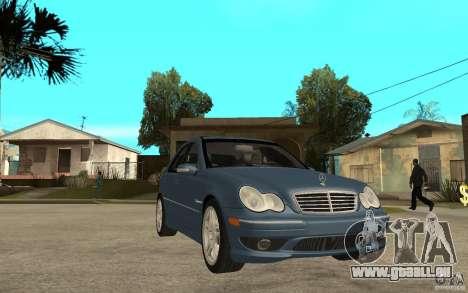 Mercedes-Benz C32 AMG 2003 für GTA San Andreas Rückansicht