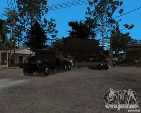KrAZ 255 + remorque artict2 pour GTA San Andreas laissé vue