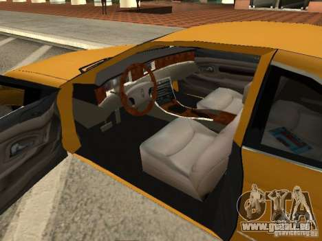 Lincoln Mark VIII 1996 pour GTA San Andreas sur la vue arrière gauche
