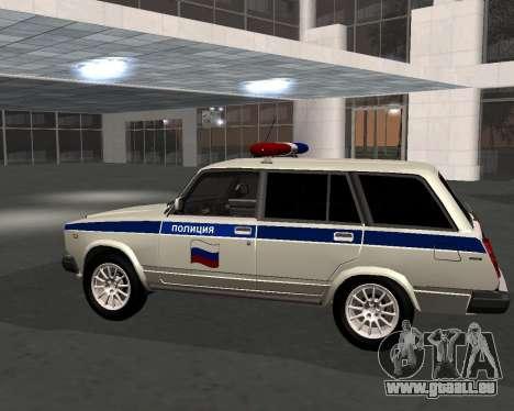 VAZ 21047 Police pour GTA San Andreas laissé vue
