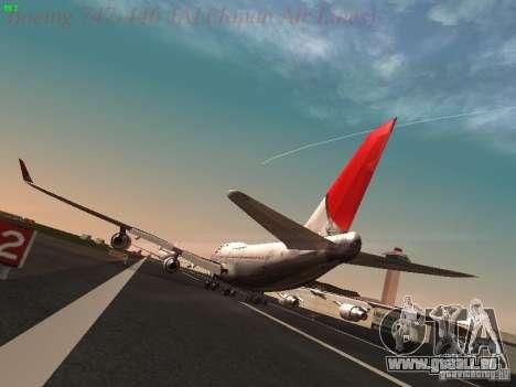 Boeing 747-446 Japan-Airlines für GTA San Andreas zurück linke Ansicht