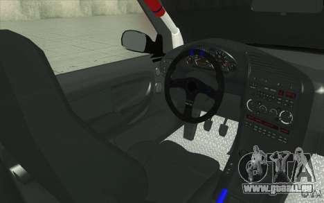 BMW Fan Drift Bolidas pour GTA San Andreas vue de dessus