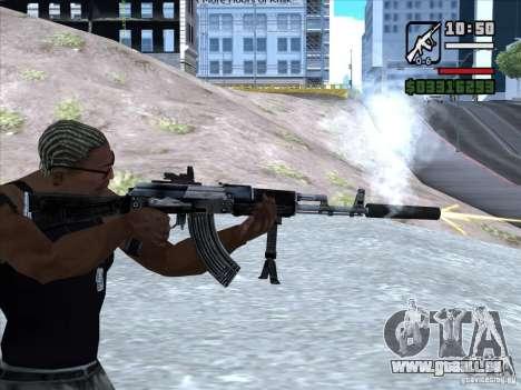 AK-103 de WARFACE pour GTA San Andreas quatrième écran