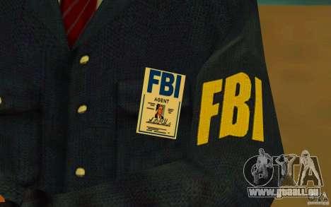 HQ skin FBI pour GTA San Andreas cinquième écran
