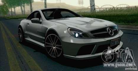 Mercedes-Benz SL65 AMG Black Series pour GTA San Andreas sur la vue arrière gauche