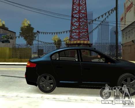 Renault Fluence für GTA 4 rechte Ansicht