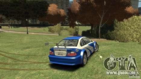 BMW M3 GTR NFS MOST WANTED pour GTA 4 est un droit