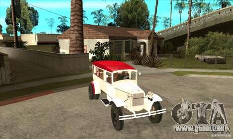 Ambulance GAZ AA pour GTA San Andreas vue arrière