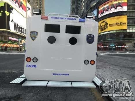 Lenco Bearcat NYPD ESU V.2 pour GTA 4 Vue arrière de la gauche
