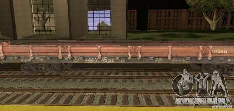 Wagon plat 44424539 pour GTA San Andreas laissé vue