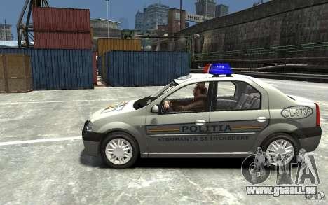 Dacia Logan Prestige Politie für GTA 4 linke Ansicht