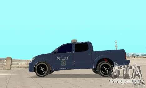 Toyota Hilux Somaliland Police für GTA San Andreas rechten Ansicht