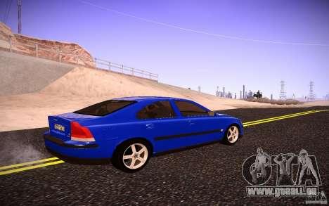 Volvo S 60R pour GTA San Andreas sur la vue arrière gauche