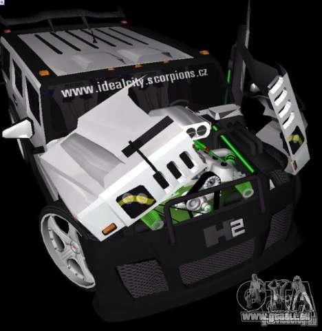 AMG Hummer H2 Hard Tuning v2 für GTA Vice City zurück linke Ansicht