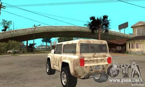 Ford Bronco Concept für GTA San Andreas zurück linke Ansicht