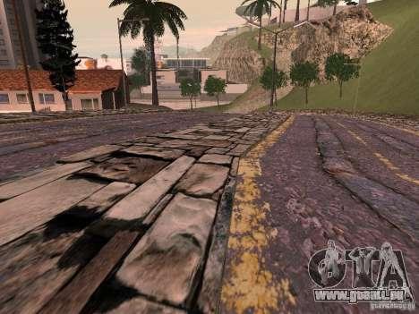 Construction de nouvelles routes en Vajnvude pour GTA San Andreas quatrième écran